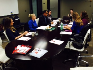Huseby supports Sacramento's McGeorge School of Law class with mock